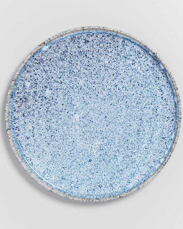 Cordoama Teller groß blau gesprenkelt