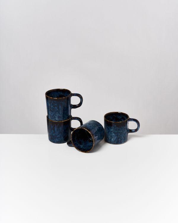 Cordoama 4er Set Tasse groß dunkelblau
