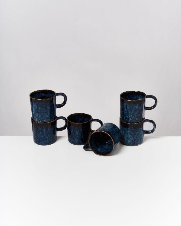 Cordoama 6er Set Tasse groß dunkelblau