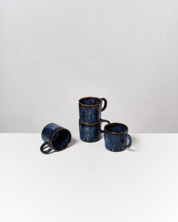 Cordoama 4er Set Tasse klein dunkelblau
