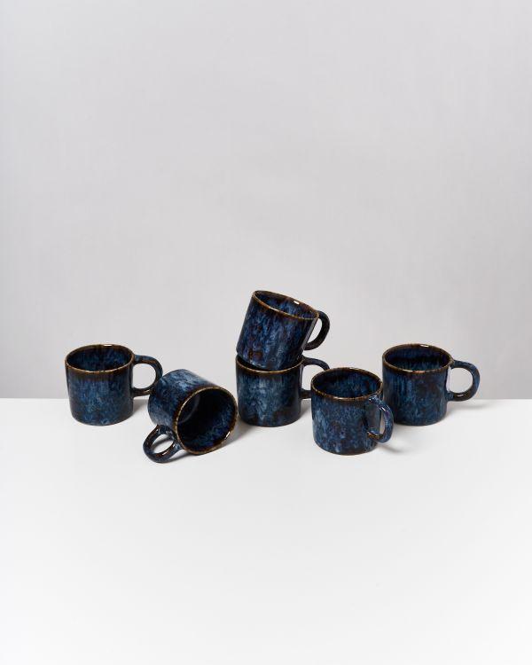 Cordoama 6er Set Tasse klein dunkelblau