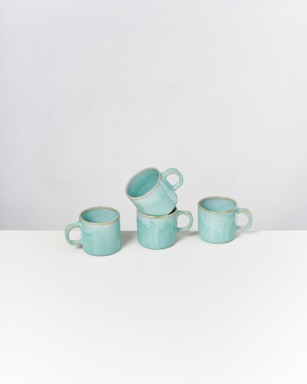 CORDOAMA - Set of 4 Mugs small mint