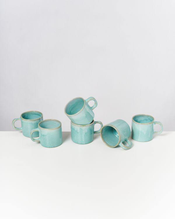 CORDOAMA - Set of 6 Mugs small mint
