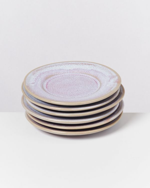 CORDOAMA - Set of 6 Saucers rosé