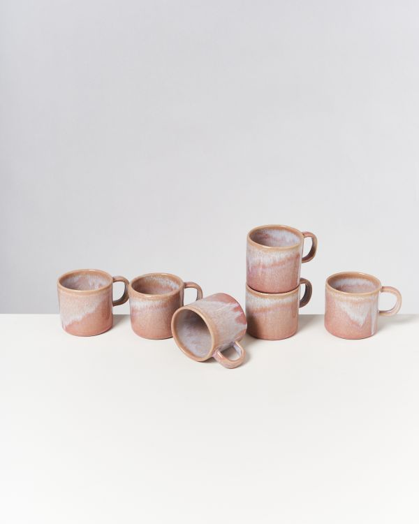 CORDOAMA - Set of 6 Mugs small rose