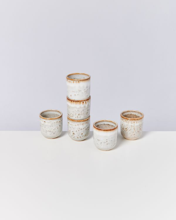 LUA - Set of 6 Mugs small beige
