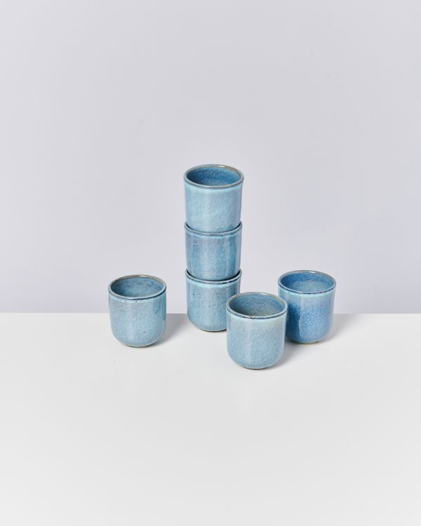 LUA - Set of 6 Mugs small blue