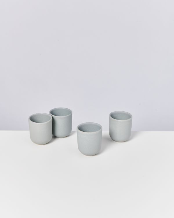 MACIO - Set of 4 Cups small grey