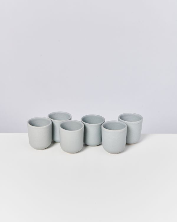 MACIO - Set of 6 Cups small grey