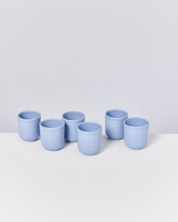 MACIO - Set of 6 Cups small lightblue