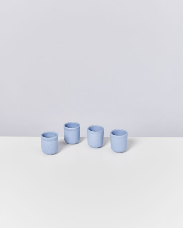 MACIO - Set of 4 Espressocups lightblue