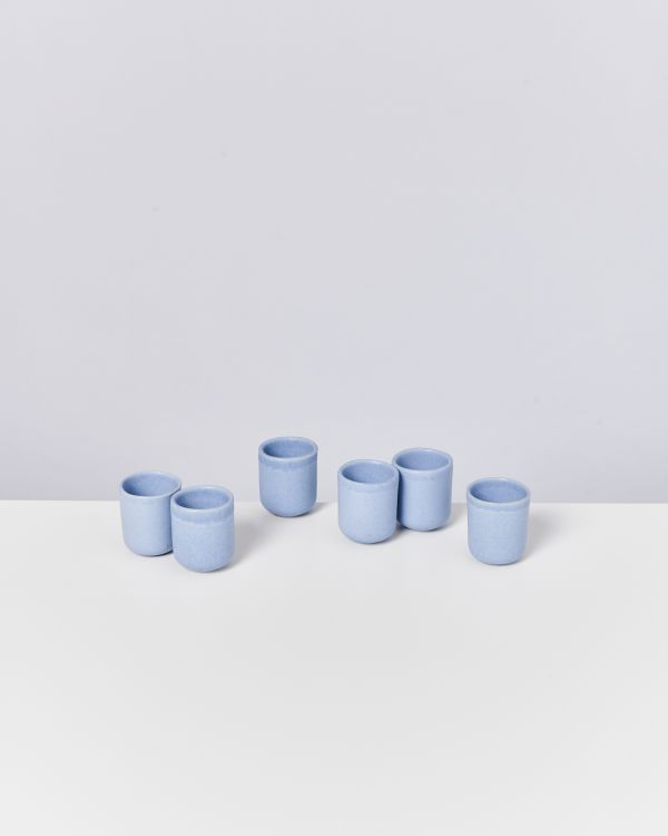 MACIO - Set of 6 Espressocups lightblue