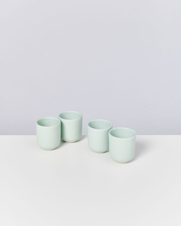 MACIO - Set of 4 Cups small turquoise