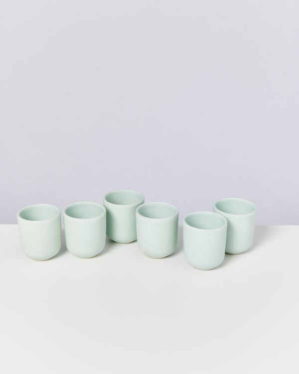 MACIO - Set of 6 Cups small turquoise