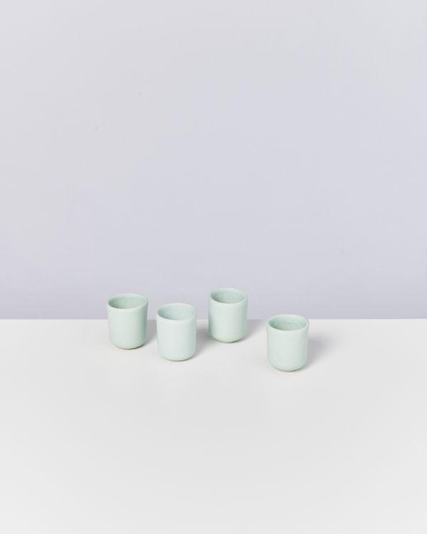 MACIO - Set of 4 Espressocups turquoise