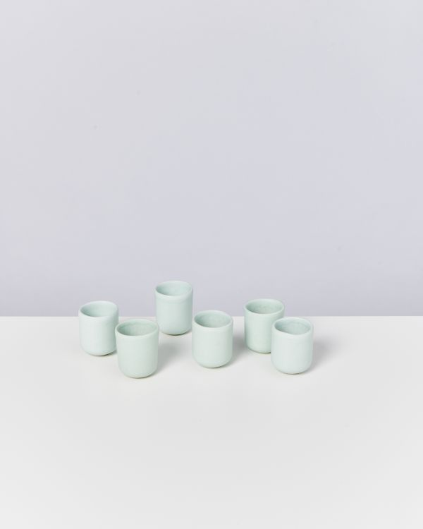 MACIO - Set of 6 Espressocups turquoise