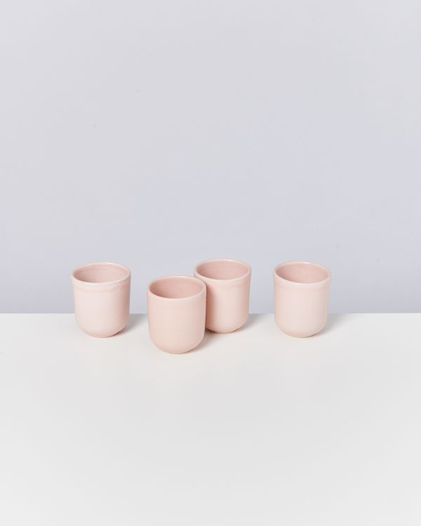 MACIO - Set of 4 Cups small rose