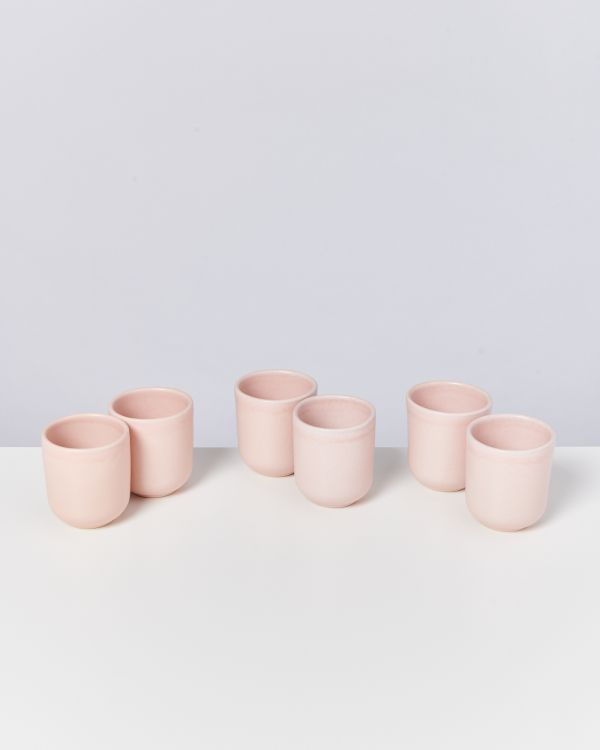 Macio 6er Set Becher klein rose