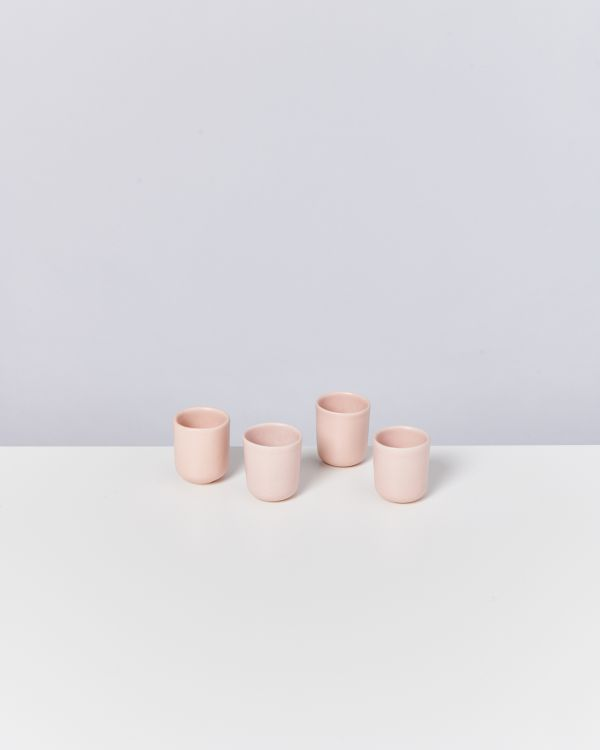 MACIO - Set of 4 Espressocups rose