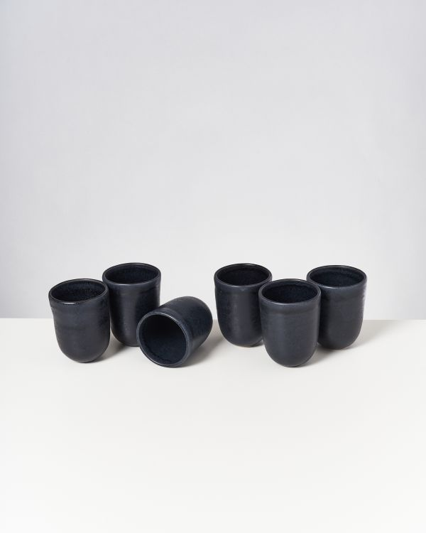 Macio 6er Set Becher groß schwarz