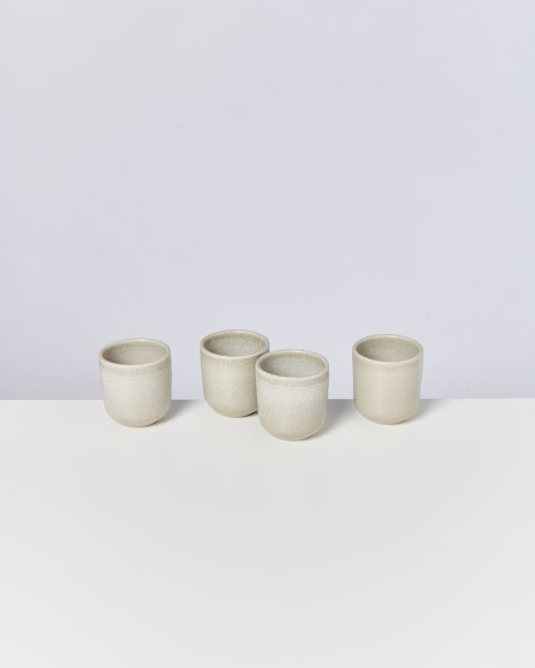 MACIO - Set of 4 Cups small stone green