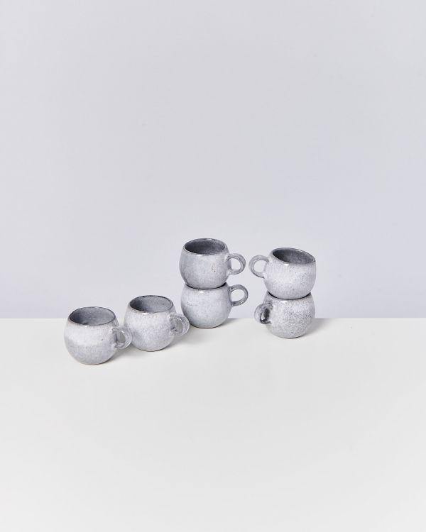 Mae 6er Set Espressotasse grau
