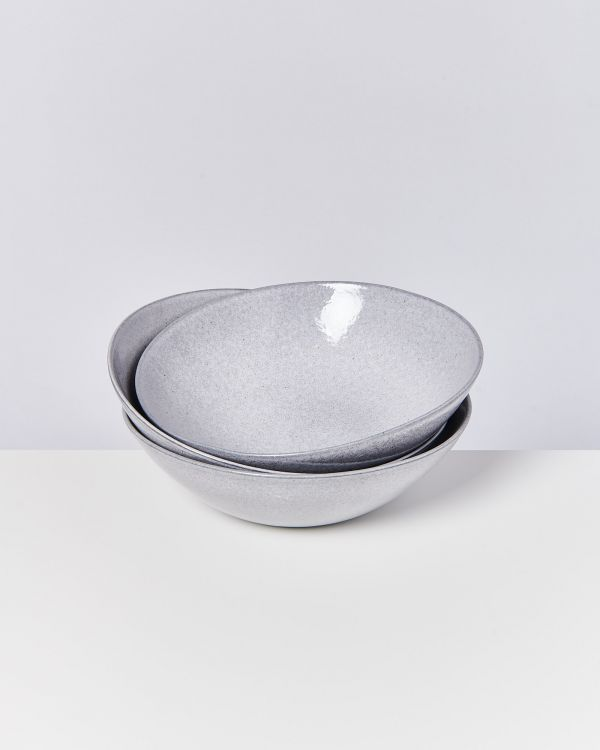 MAE - Servingbowl big flat grey
