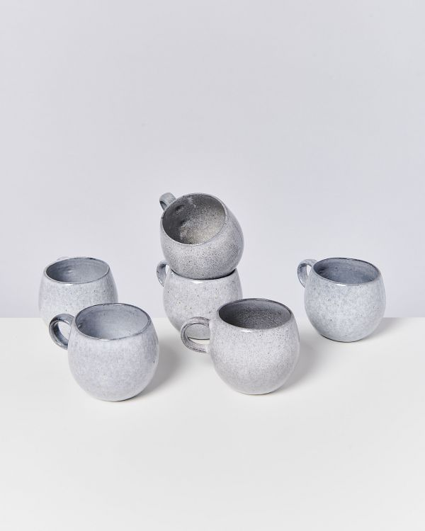 Mae - Set of 6 Mugs big grey