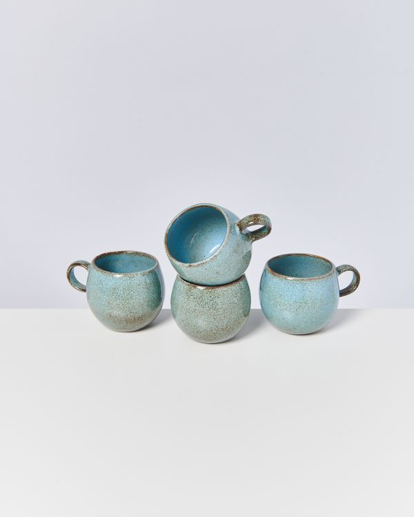 MAE - Set of 4 Cups big turquoise