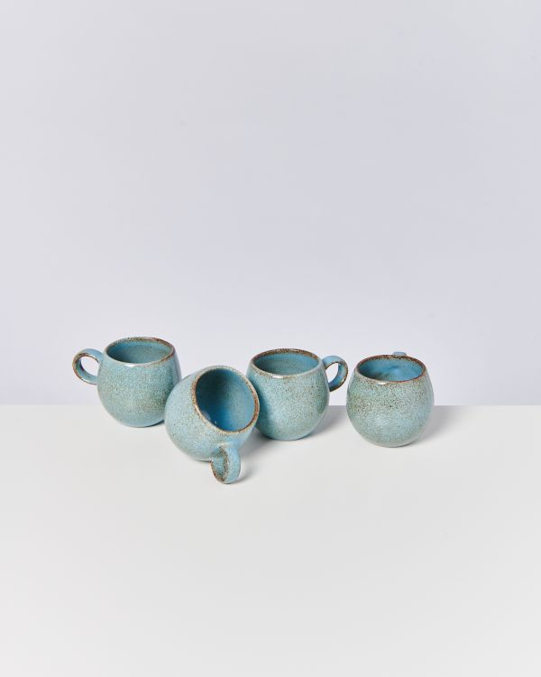 MAE - Set of 4 Cups samll turquoise