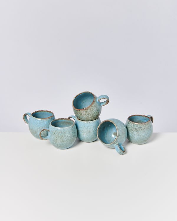 AREIA - Set of 6 Cups small pink