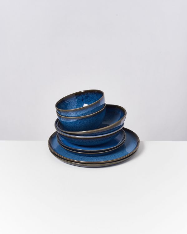 Melides - Set of 8 pieces blue