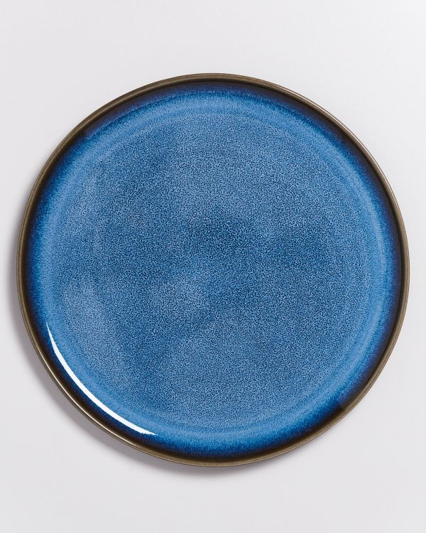 Melides - Plate large blue