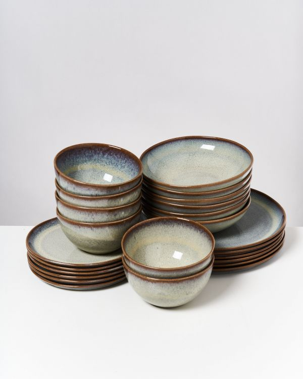 Melides - Set of 24 pieces forest brown