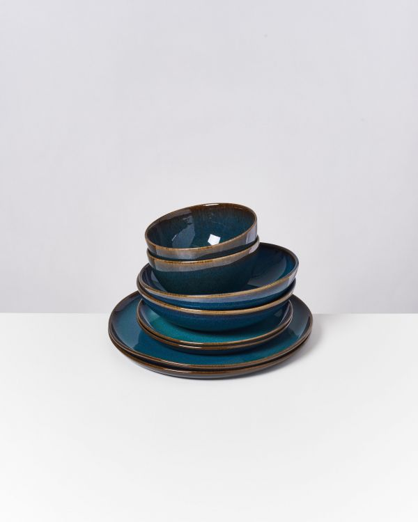 Melides - Set of 8 pieces oceanblue