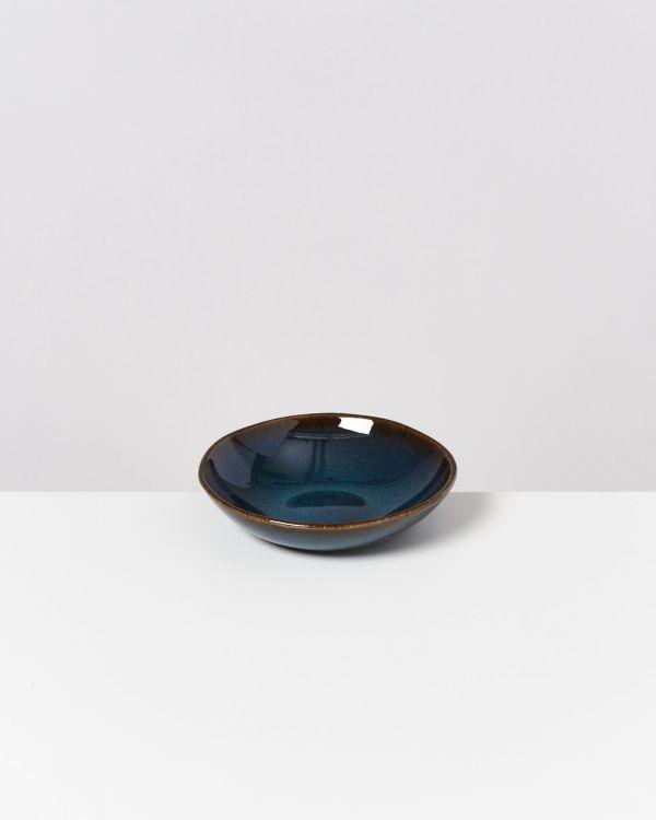 Melides - Mini Plate deep oceanblue