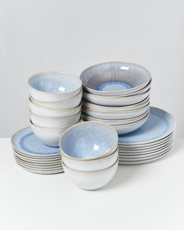Melides - Set of 32 pieces stoneblue
