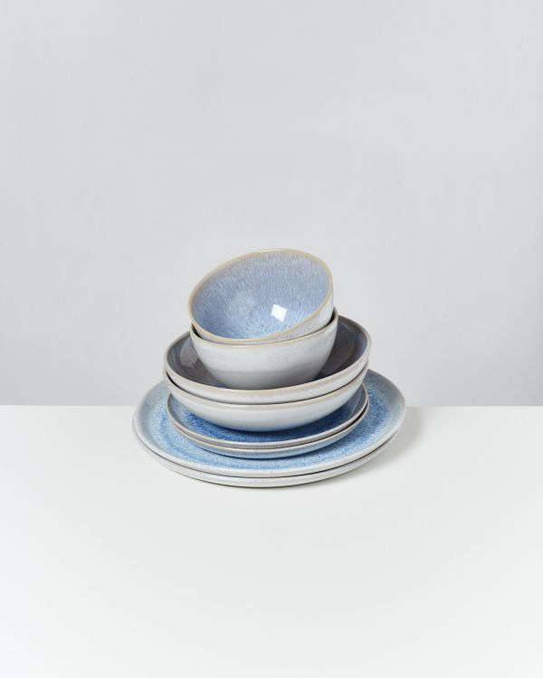 Melides - Set of 8 pieces stoneblue