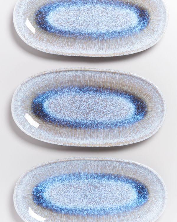 Melides - Serving Platter L stoneblue