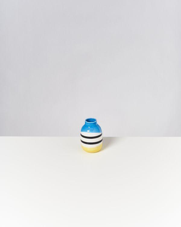 Nuno S schwarz-weiß gestreift mit blau