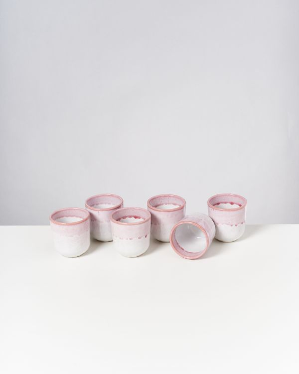 COPA ALTO - Set of 6 Cups small strawberry