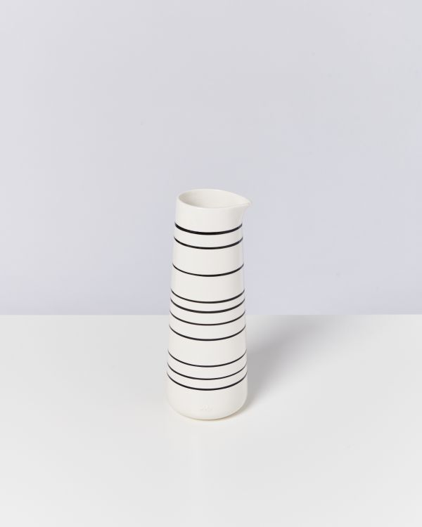 PINGUIM - Decanter black & white striped
