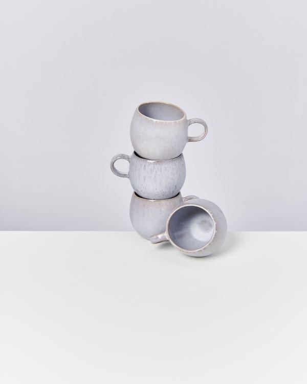 Porto 4er Set Tasse groß grau