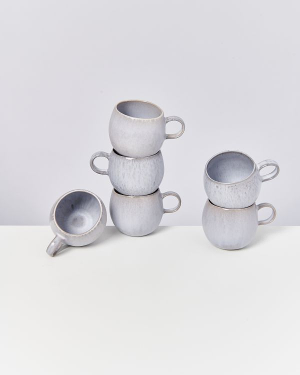PORTO - Set of 6 Cups big grey