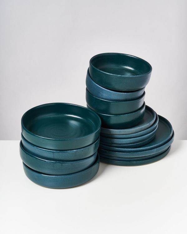 TAVIRA - Set of 16 pieces green