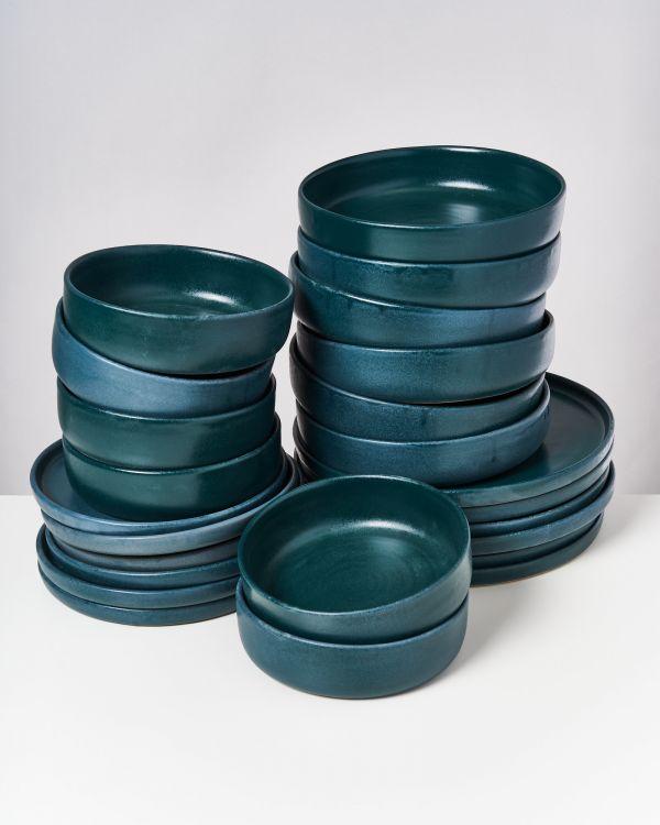 TAVIRA - Set of 24 pieces green