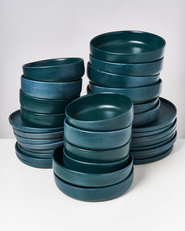 TAVIRA - Set of 32 pieces green