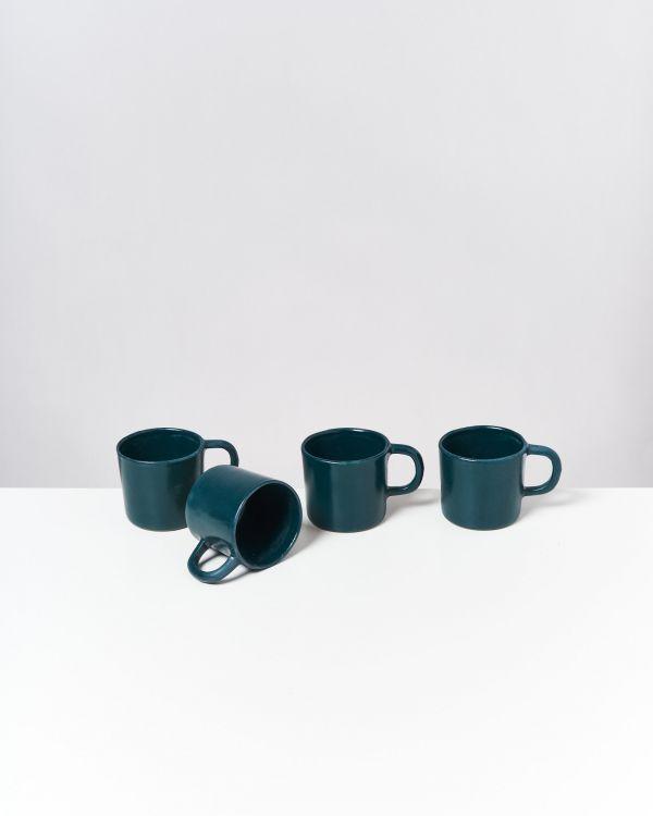 Tavira - Set of 4 Mugs small green