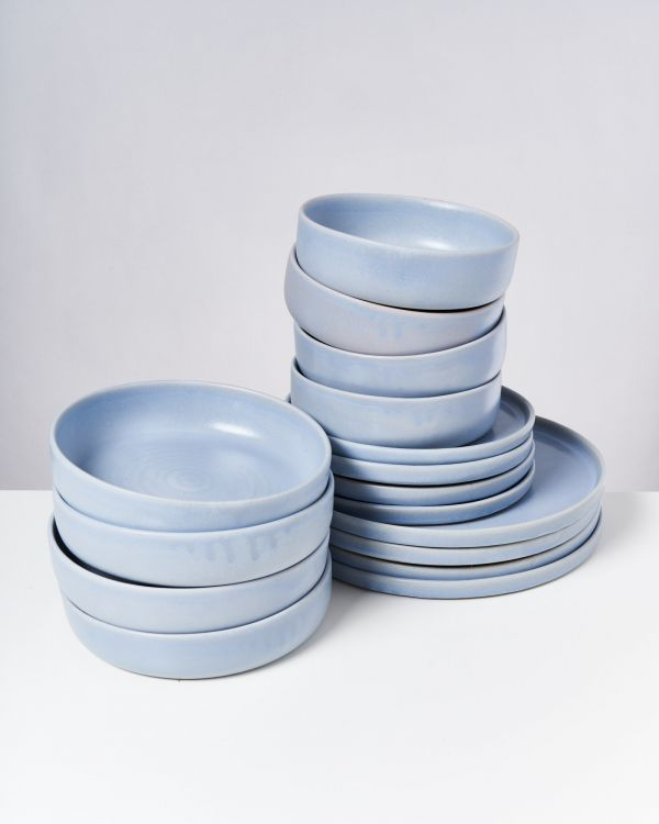 TAVIRA - Set of 16 pieces pastel blue