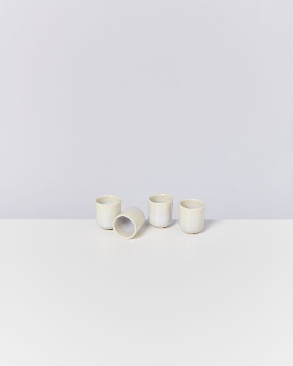 Alcachofra 4er Set Espressobecher sand